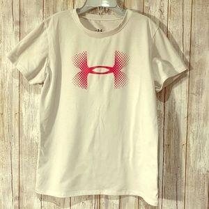 Under Armour girls white heatgear T-shirt